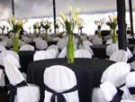 Catered event tent