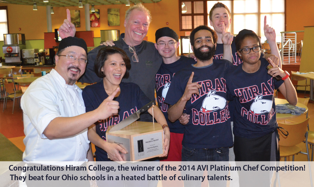 Hiram College Takes 2014 AVI Foodsystems Platinum Chef Ohio Competition