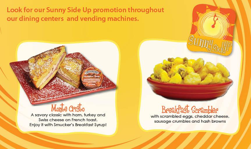 AVI Foodsystems September 2014 Promotion Sunny Side Up
