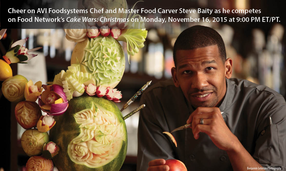 AVI Foodsystems Chef Steve Baity competes on Food Network