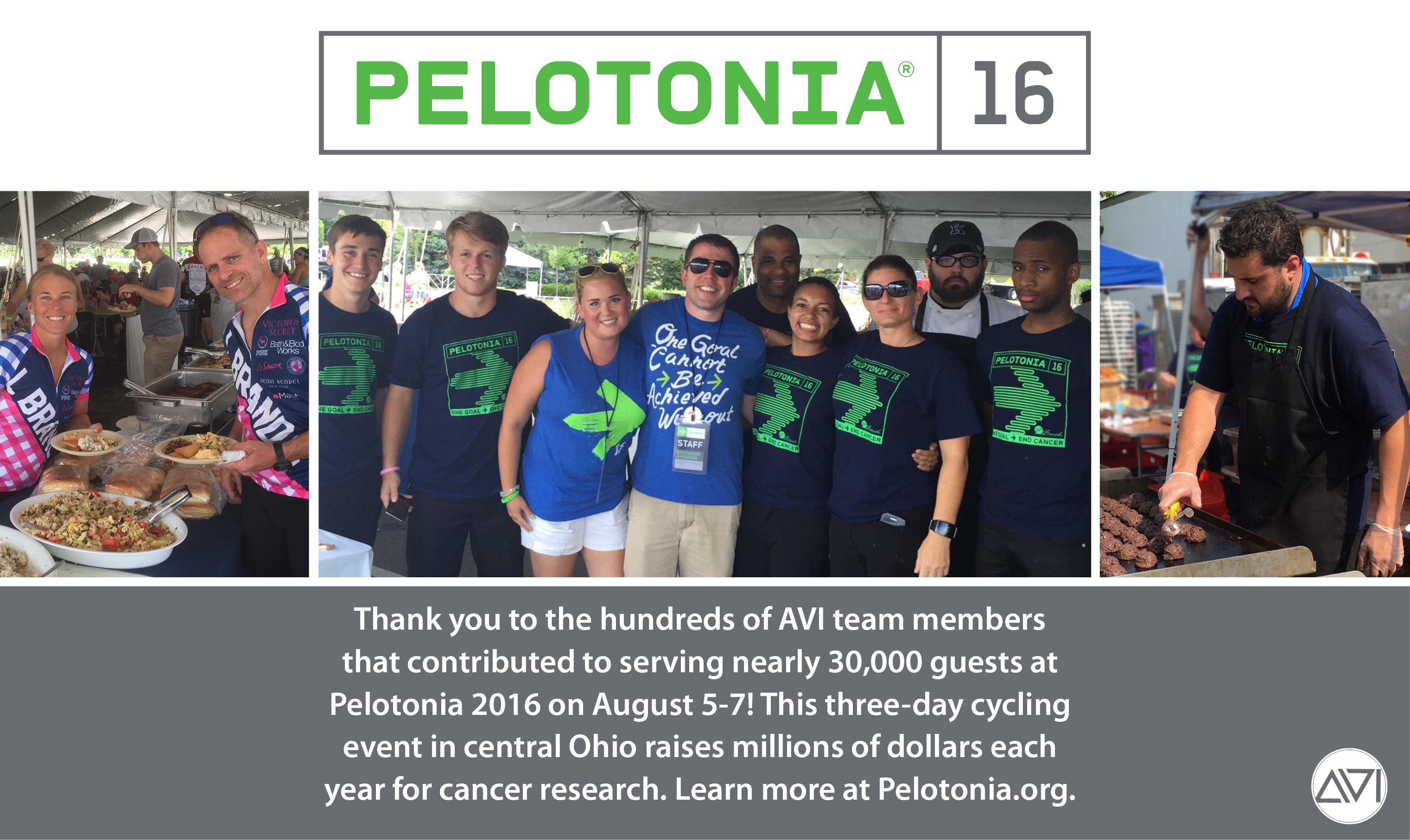 AVI Foodsystems Pelotonia Thank You To Team Members
