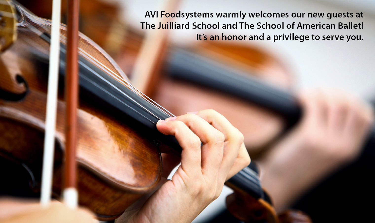 AVI Foodsystems Welcomes New Guests