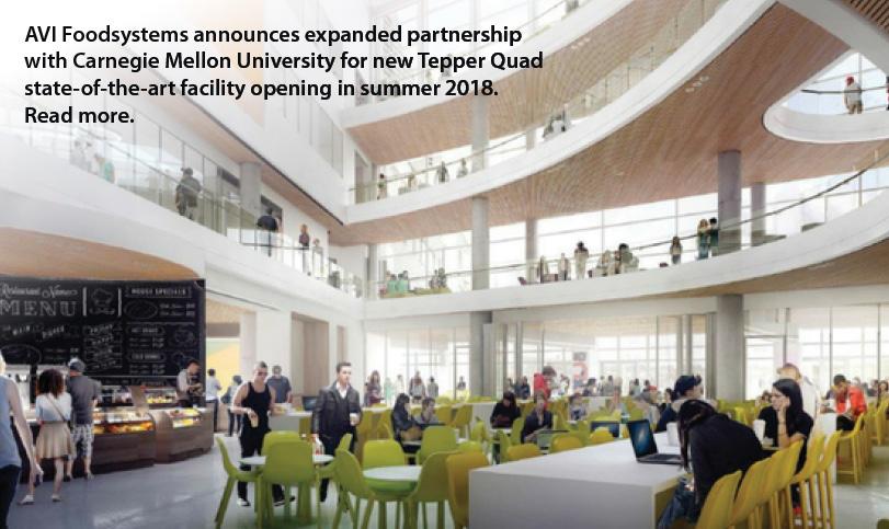 AVI Foodsystems Announces Expanded Partnership with Carnegie Mellon University