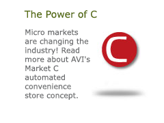 The Power of C. The Power of C Micro markets are changing the industry! Read more about AVI's Market C automated convenience store concept.