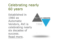 Celebrating nearly 60 years. Vending Established in 1960 as Automatic Vendors, AVI is celebrating nearly six decades of success. Read more.